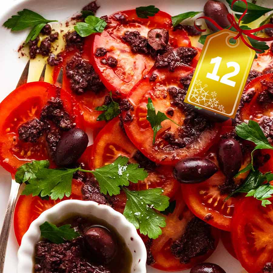 Tomato Salad with Olive Tapenade (very French!)
