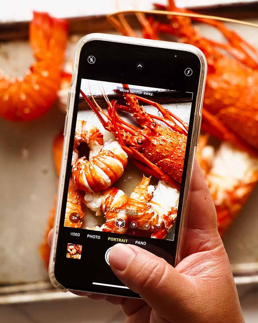 Nagi RecipeTin Eats iPhone photo of lobsters