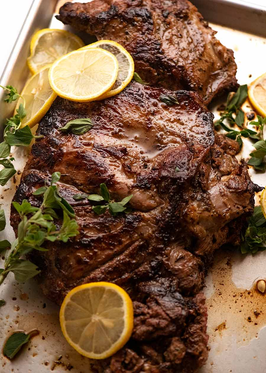 Greek Butterflied Lamb Leg fresh off the BBQ