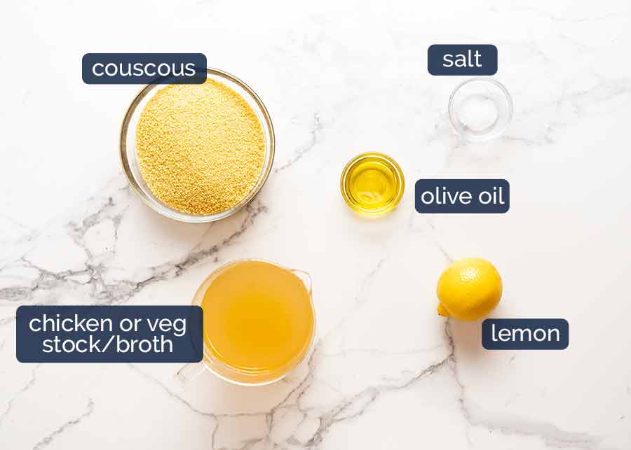 Couscous ingredients