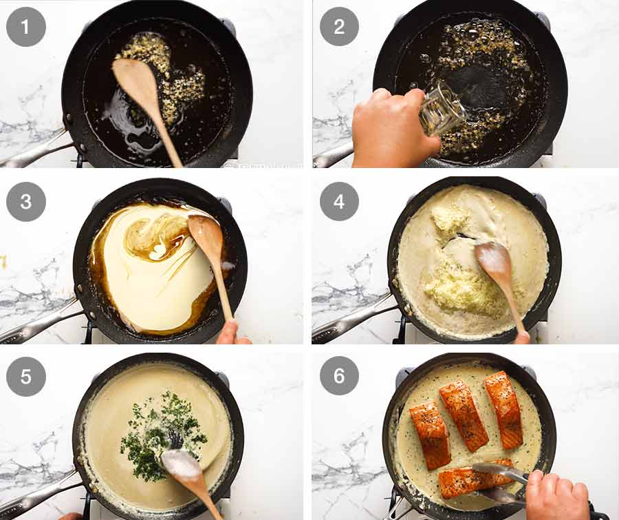 How to make Creamy Herb & Garlic Salmon Sauce