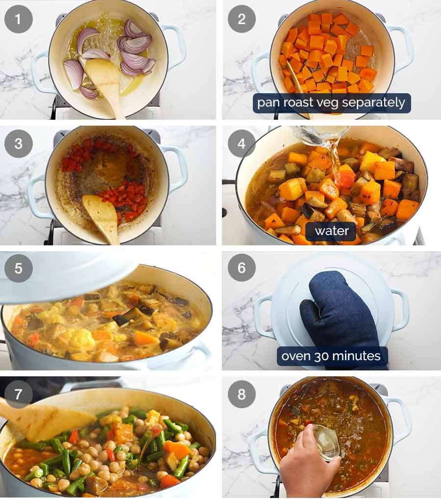 How to make Vegetable Tagine