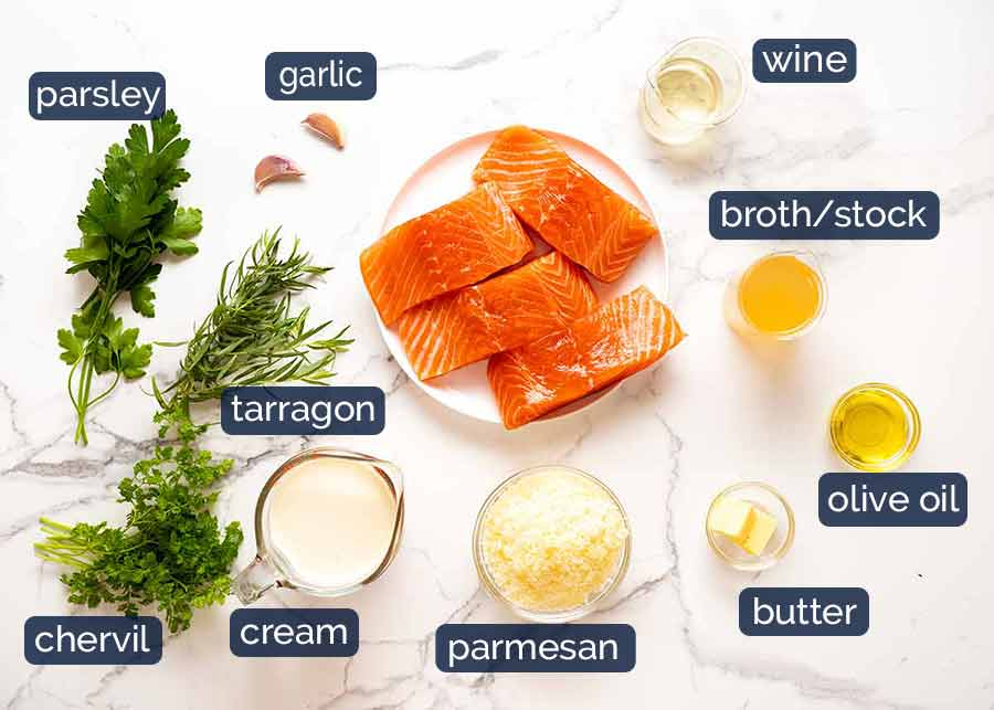 Ingredients in Creamy Herb & Garlic Salmon Sauce