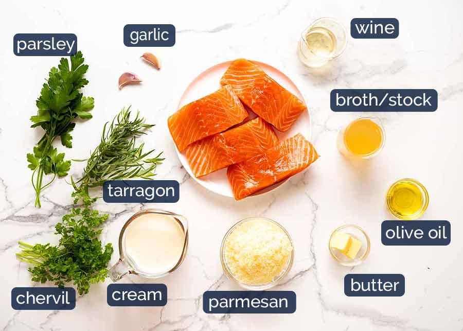 Ingredients in Creamy Herb & Garlic Salmon Sauce