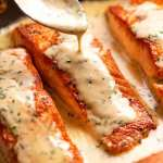 Creamy Herb & Garlic Salmon Sauce