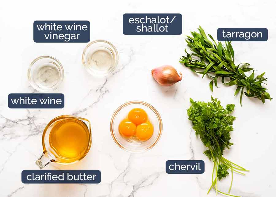 Ingredients in Bearnaise Sauce