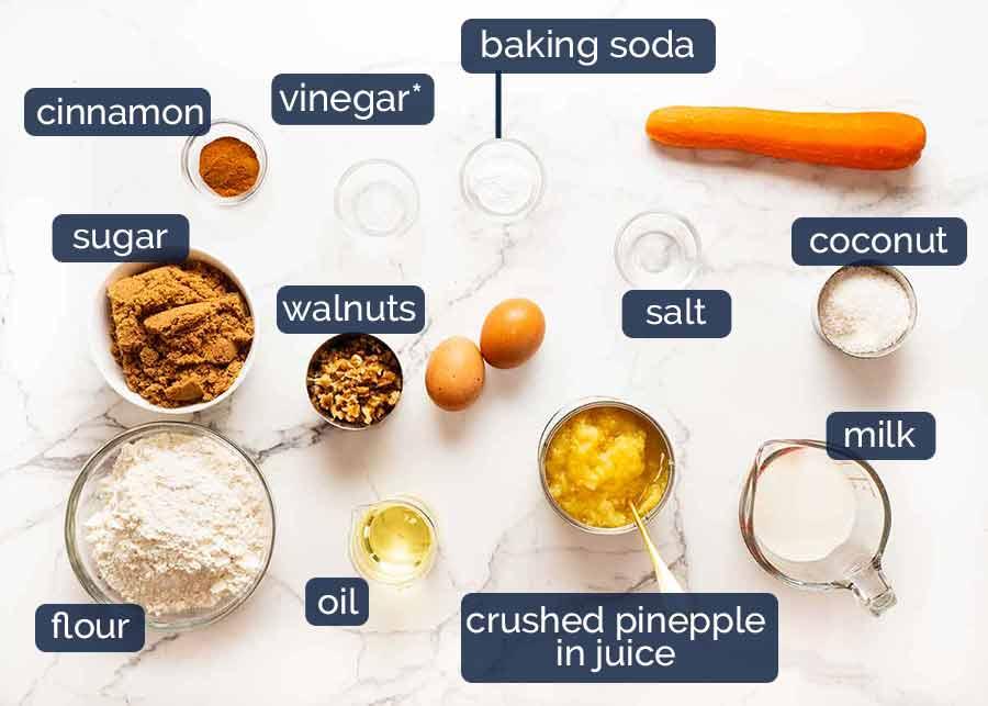 O que se passa em cupcakes de bolo de cenoura