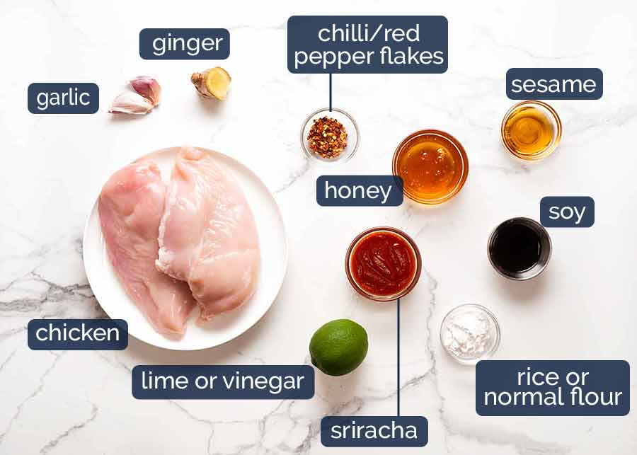 What goes in Asian Chilli Chicken