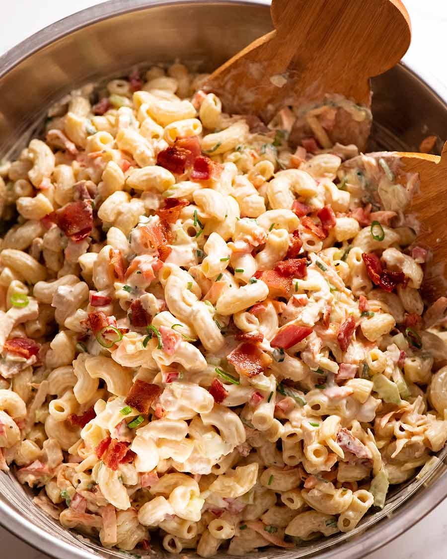 Chicken Pasta Salad Recipetin Eats