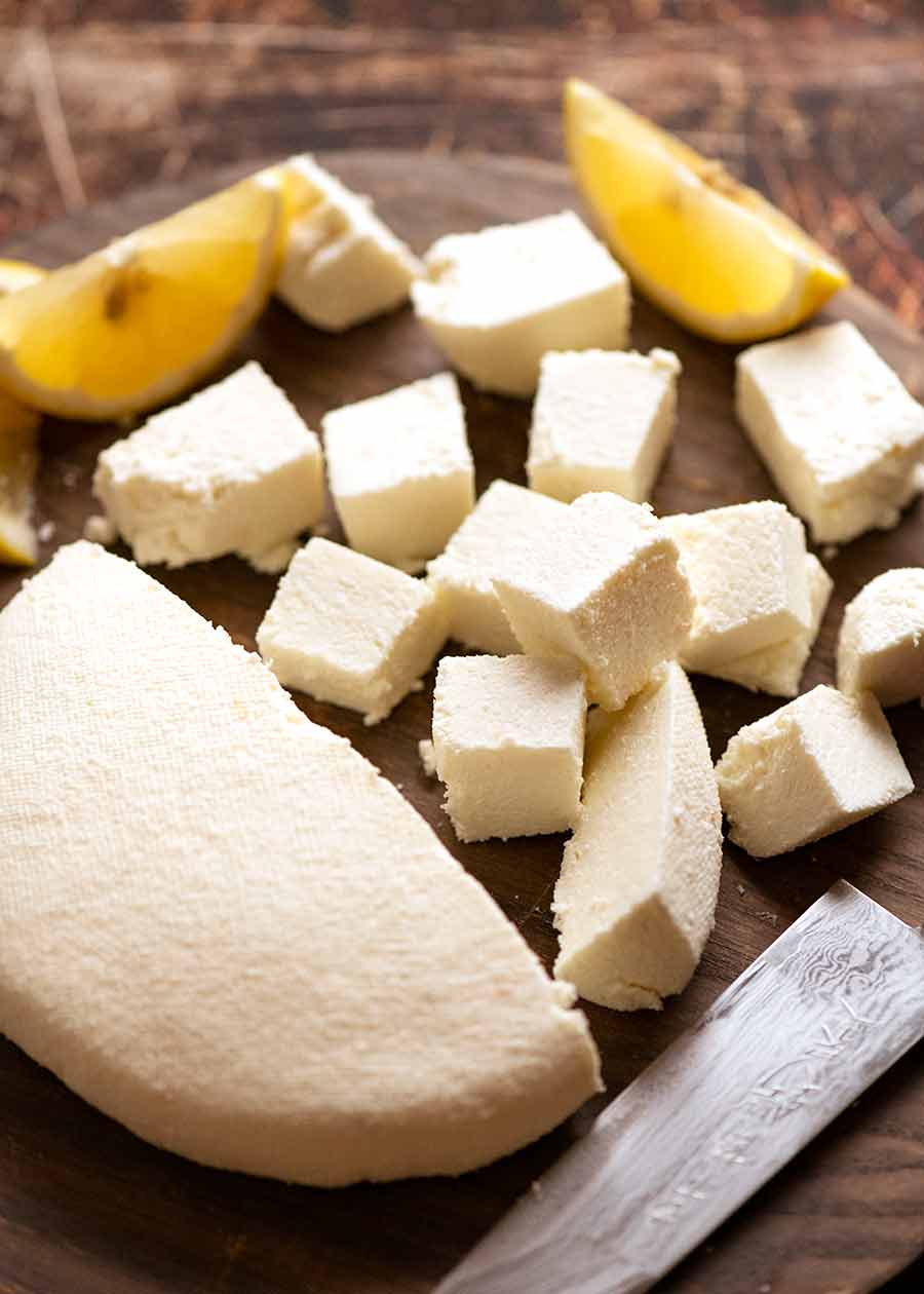 How To Make Paneer Fresh Indian Cheese Recipetin Eats