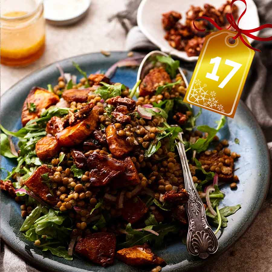 Honey-Cinnamon Pumpkin Lentil Salad
