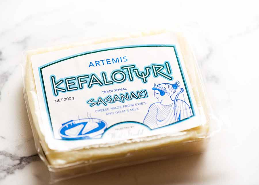 Kefalotyri Greek Cheese Saganaki cheese to use on Pastitsio
