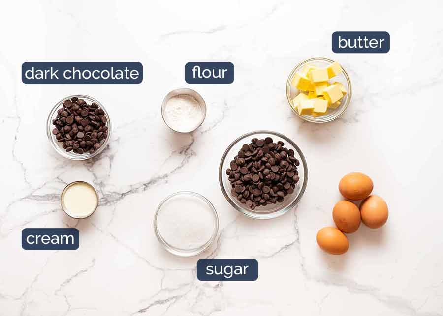 Molten Chocolate Cake ingredients