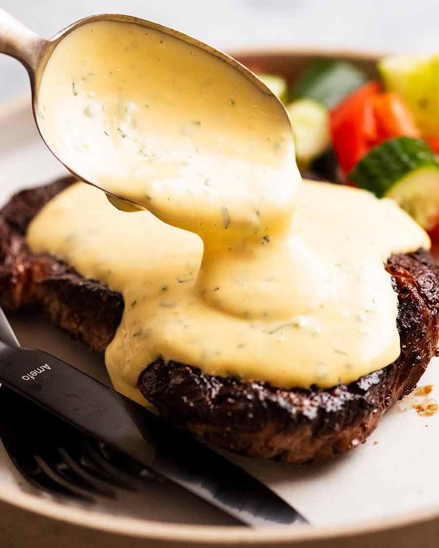 Bearnaise Sauce World S Finest Steak Sauce Recipetin Eats