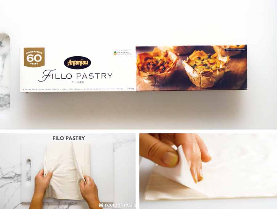 Filo pastry - also known as Phyllo pastry - for Spanakopita