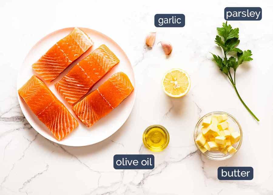 Ingredients in Garlic Butter Salmon