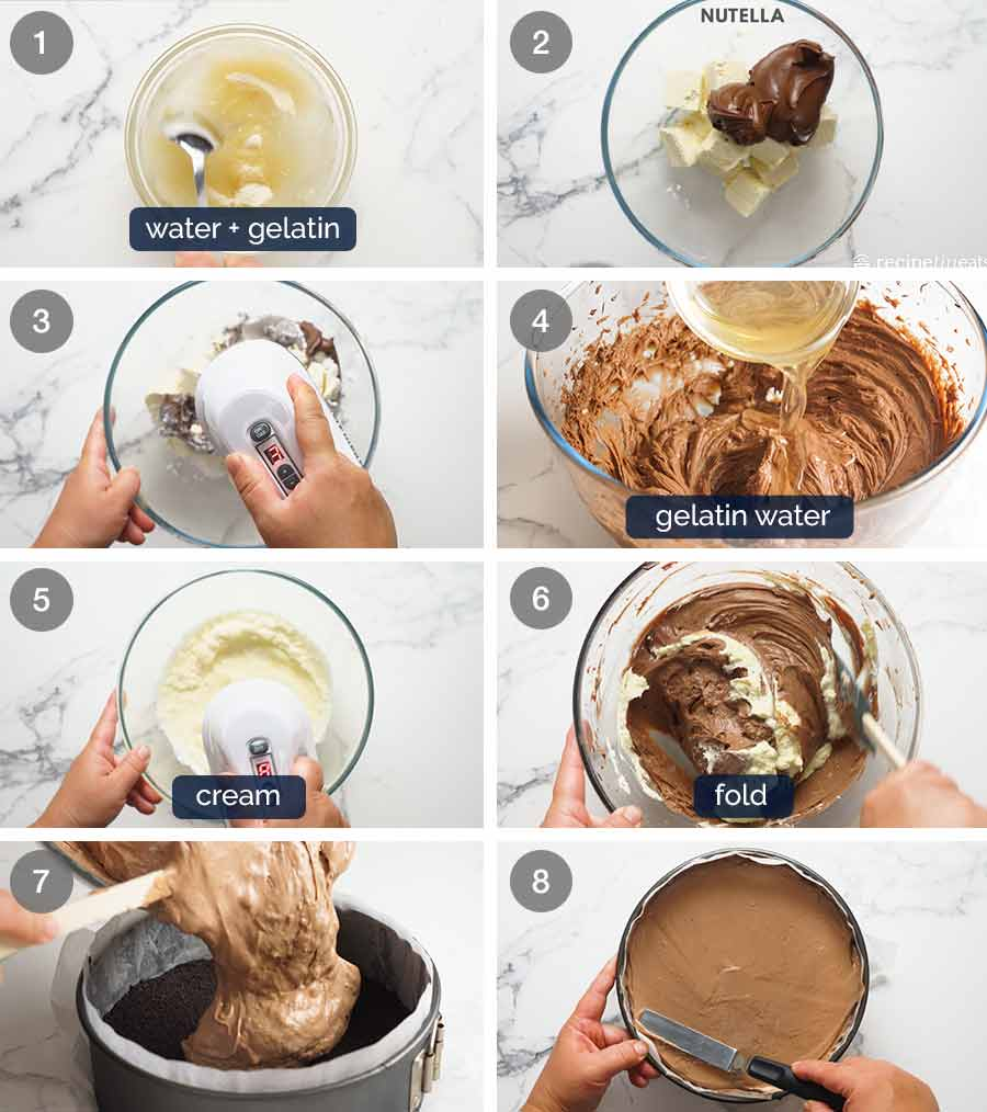 How to make Nutella Cheesecake (No Bake)