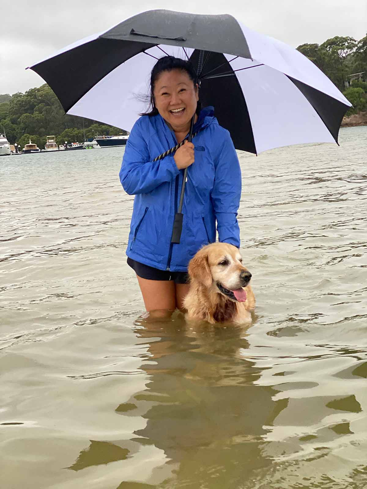 Nagi Dozer rainy day at Bayview