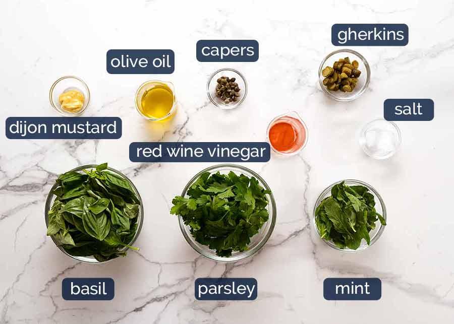 Ingredients in Salsa Verde