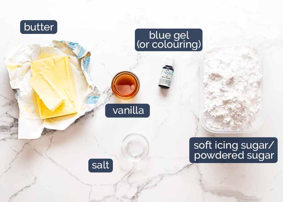 Ingredients for Easter Cake decorating idea