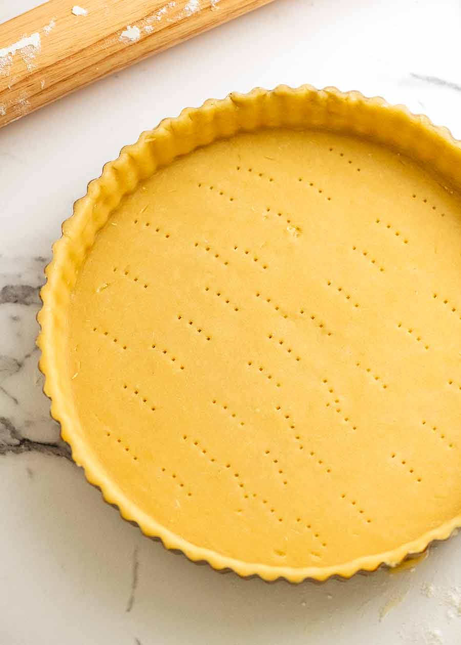 Raw Sweet Tart Crust (Sweet Pastry) - French Pate Sucree - ready to be baked