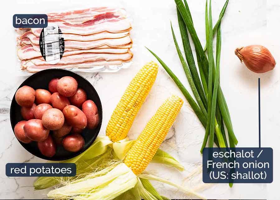 Red potato salad ingredients