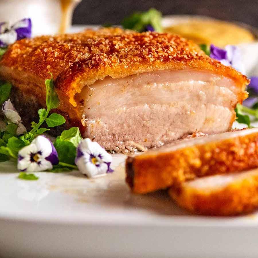 Slow-Roasted Crispy Pork Belly