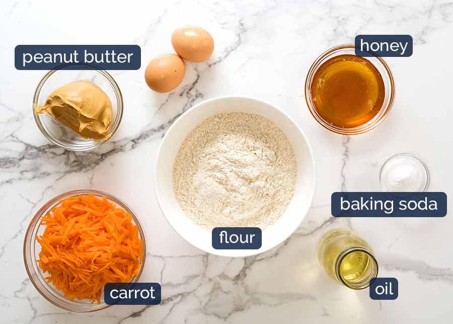 Ingredients in dog friendly cake