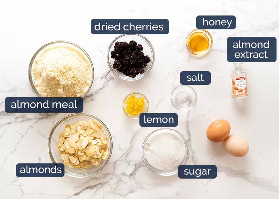 Italian Almond Cookies ingredients