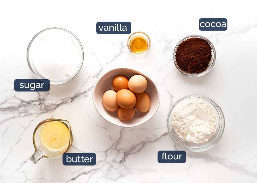 Black Forest Cake ingredients