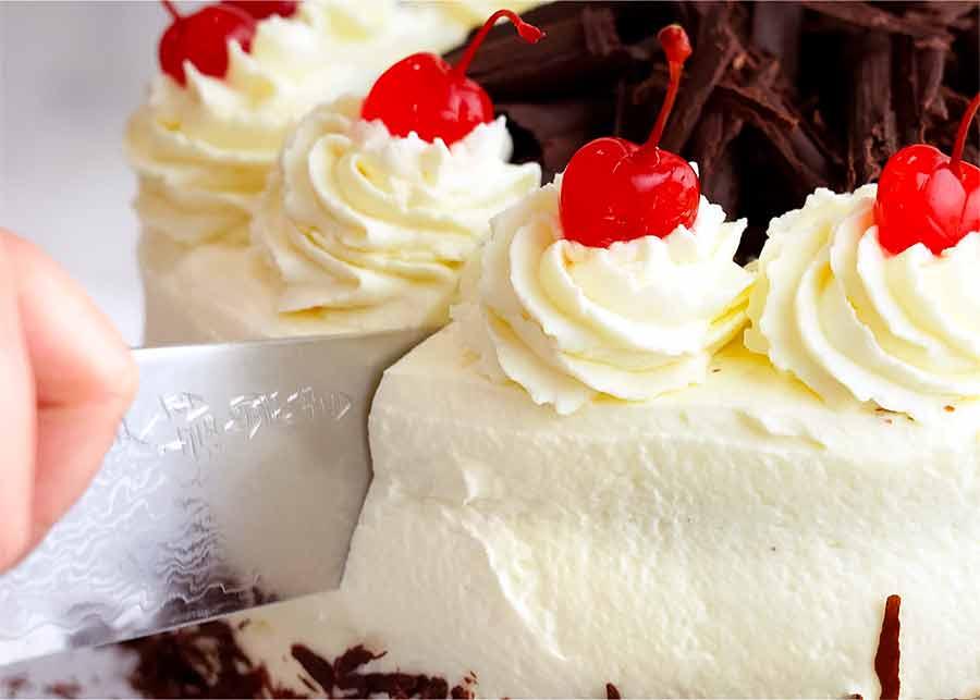 Cutting Black Forest Cake