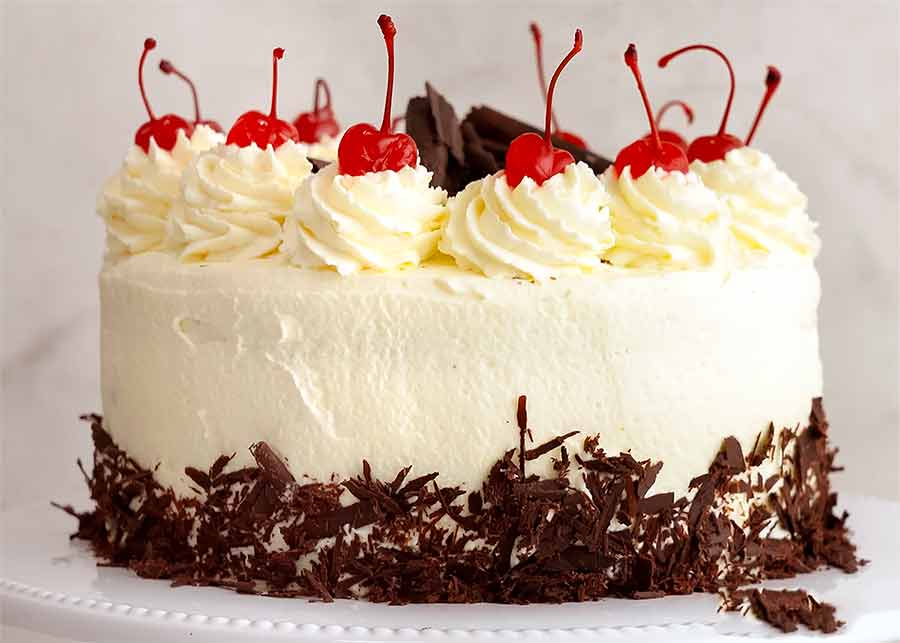 Side photo of Black Forest Cake