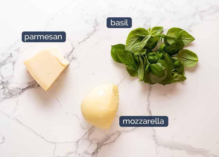 Ingredients in Eggplant Parmigiana