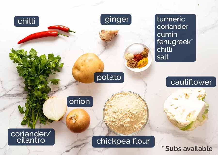 Ingredients in Pakora
