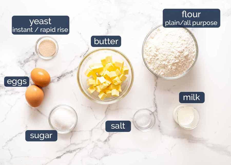 Ingredients in Brioche