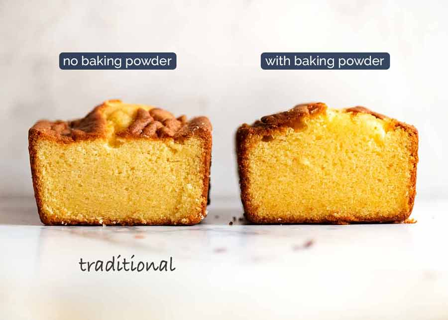 Pound Cake with and without baking powder