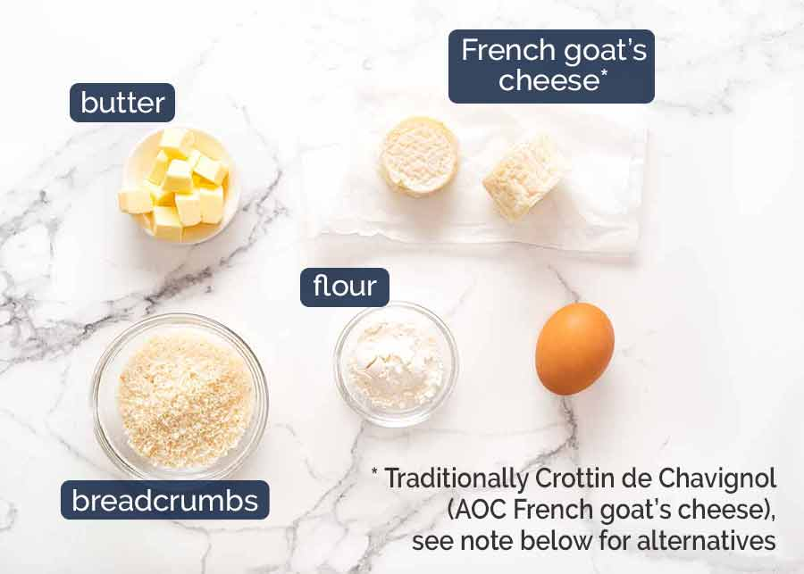 Ingredients in Warm French Goat's Cheese Salad (Salade de Chêvre Chaud)