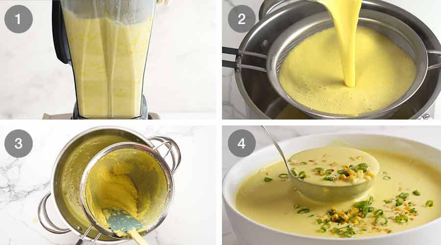 طريقة عمل شوربة الذرة الباردة