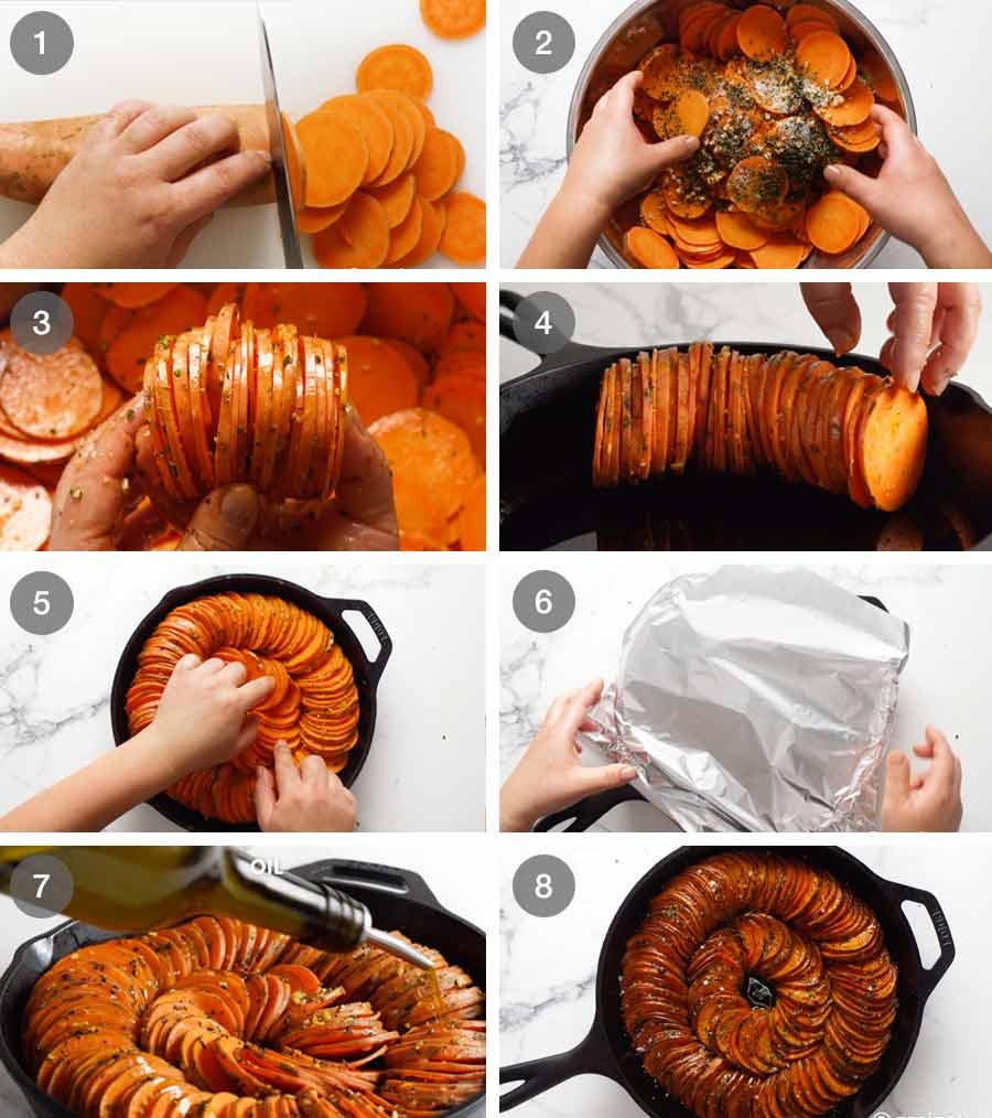 طريقة عمل خبز البطاطا الحلوة (طبق جانبي)