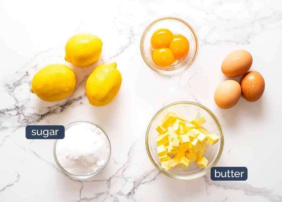 Ingredients in French Lemon Tart