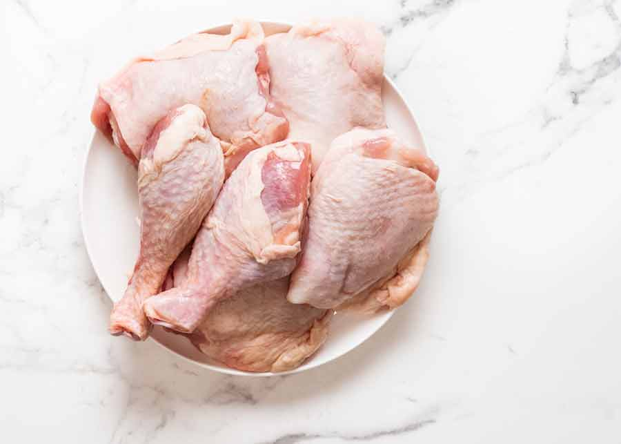 Chicken pieces for Ayam Goreng (Malaysian Fried Chicken)