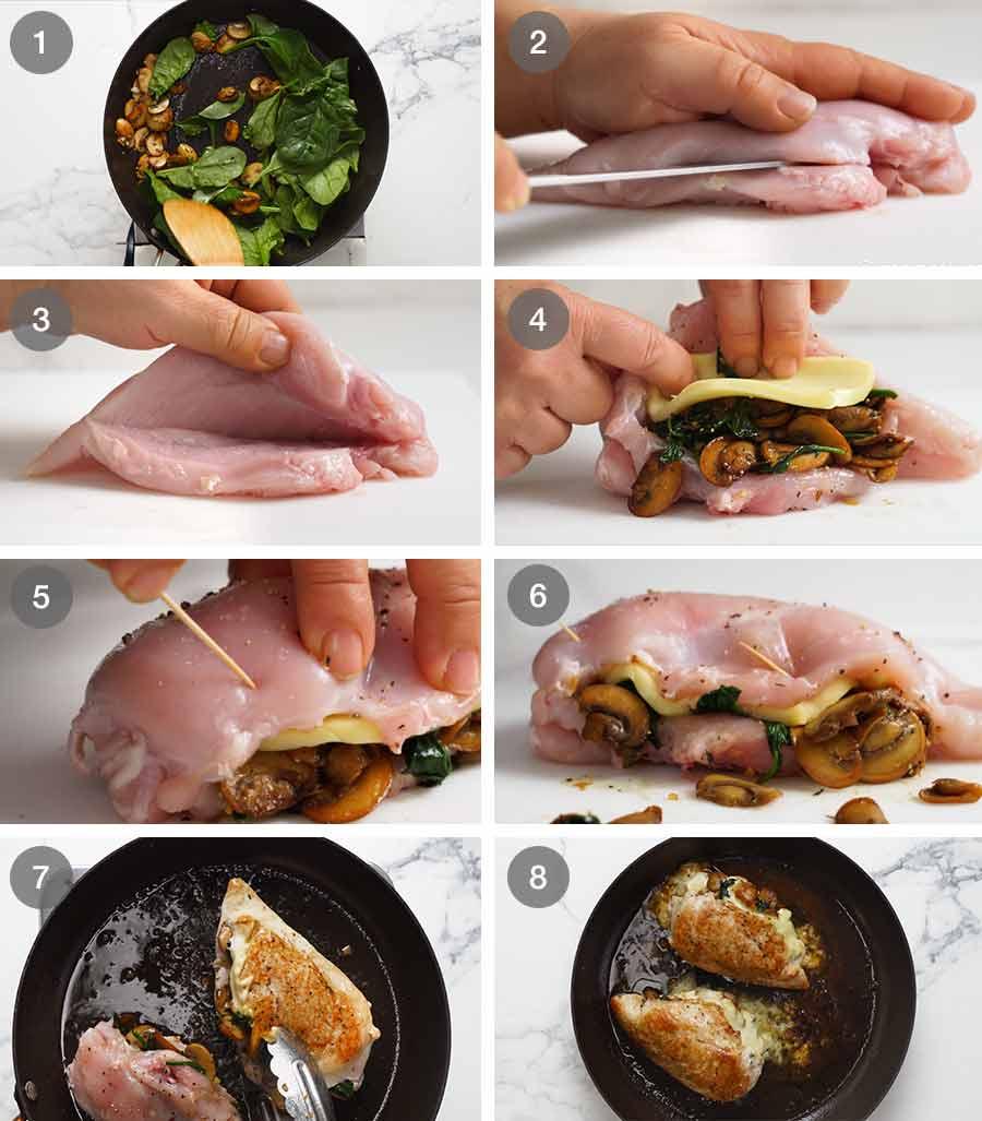 How to make Mushroom Stuffed Chicken Breast