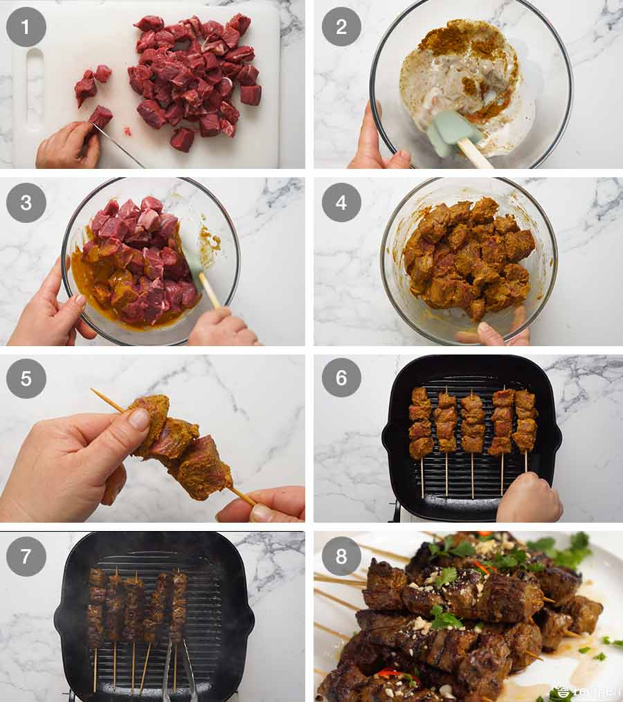 How to make Thai Beef Satay
