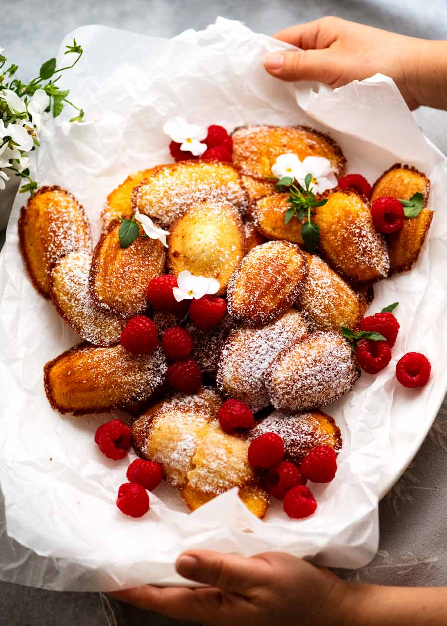 Platter of Madeleines ready to be served