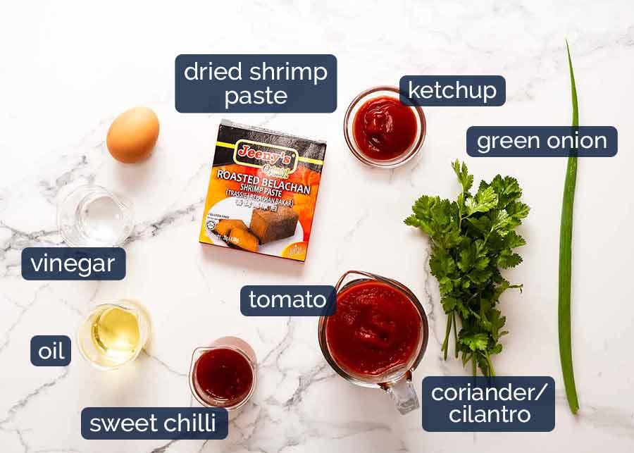 Ingredients in Singapore Chilli Crab
