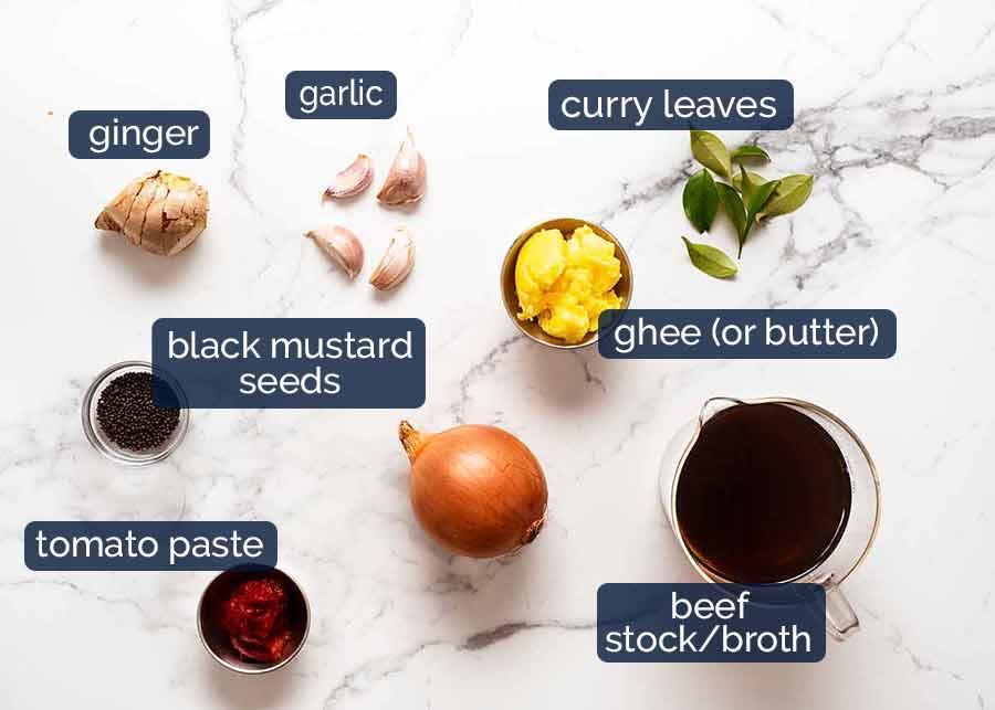 Ingredients in Vindaloo
