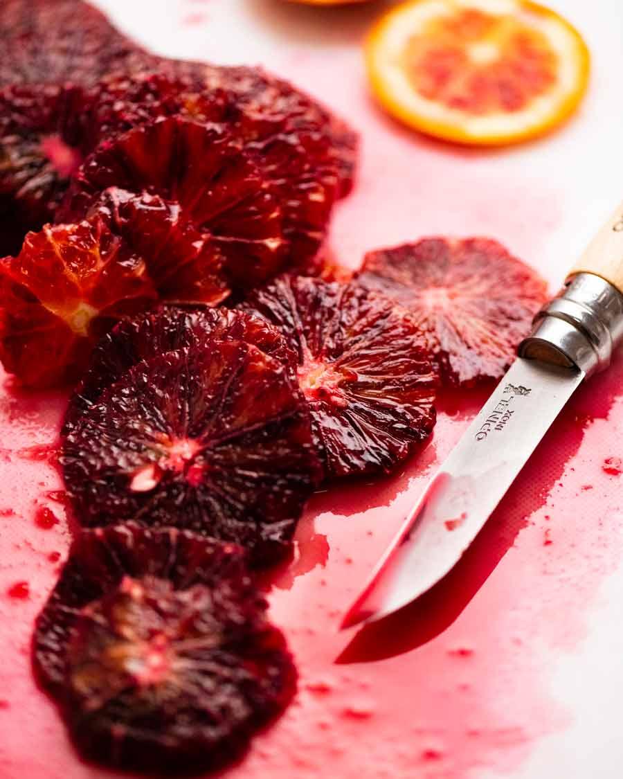 Slices of Blood Oranges for Blood Orange Salad