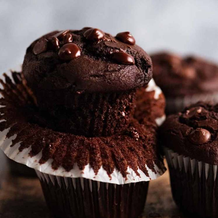 Close up of best Chocolate Muffins