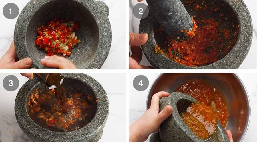 How to make Green Papaya Salad Dressing