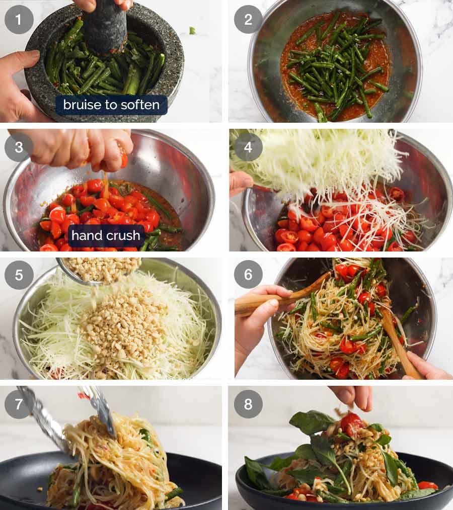 How to make Green Papaya Salad (Thai)